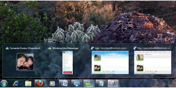 Barra de iniciar aprimorada mostrando miniaturas dos programas em execução. (Foto: Reprodução)